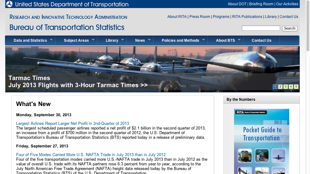 Here 39 s what every us government department and agency for Bureau transportation statistics