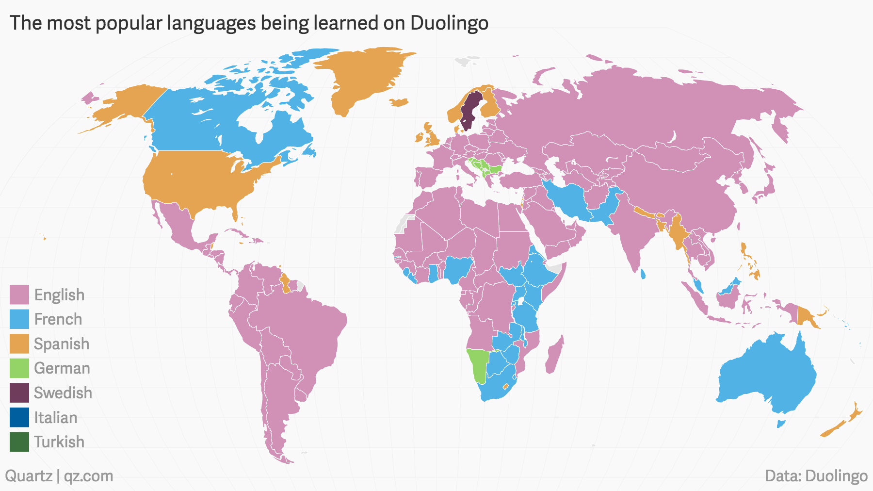 The languages the world is trying to learn according to duolingo english is far and away the most dominant with a caveat for some learners english is the only language duolingo offers with translation into their native gumiabroncs Gallery
